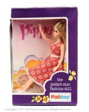 Palitoy Pippa Doll - red and white dress
