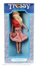 Palitoy Tressy Doll - wearing red blouse