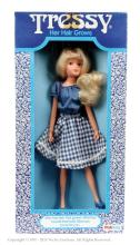 Palitoy Tressy Doll - wearing blue blouse