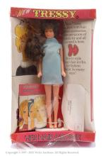 Palitoy Tressy Doll - wearing blue dress. There