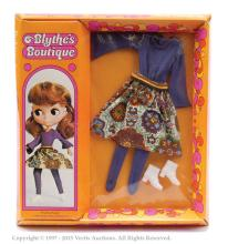 Palitoy Blythe doll boxed Pinafore Purple
