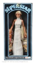 Palitoy Super Star Doll wearing silver dress