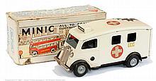 Triang Minic 75M Ambulance - white, red circle