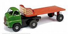 Triang Minic Transport Lorry - green cab, red