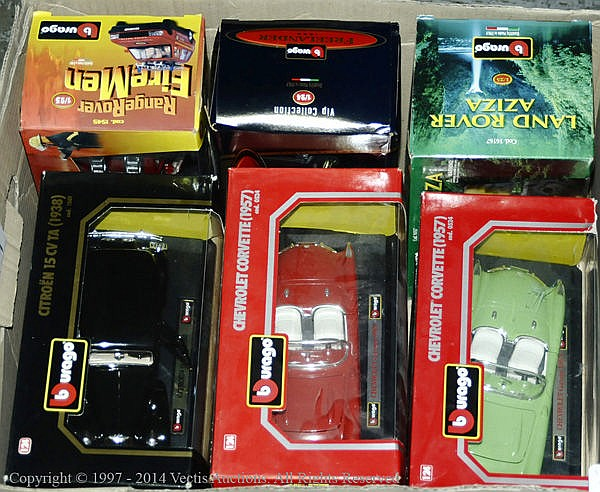 GRP inc Burago boxed Car in 1/24th scale. Range