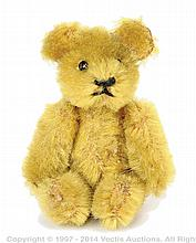 Schuco Golden Mohair Bear, German, 1930's black