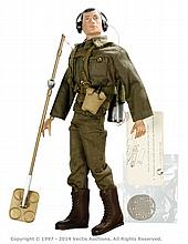 Palitoy vintage Action Man Mine Detection. Black