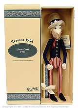 Steiff Uncle Sam replica 1904 felt Doll, 1994