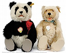PAIR inc Steiff replica Bears: Panda-Bar replica