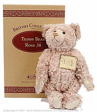 Steiff British Collectors Pink Rose mohair Bear