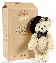 Steiff Scottish Bear, white mohair bear, 2001