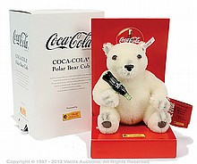 Steiff Coca Cola Polar Bear Cub, white tag