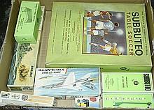 GRP inc Subbuteo, Airfix boxed Continental Club