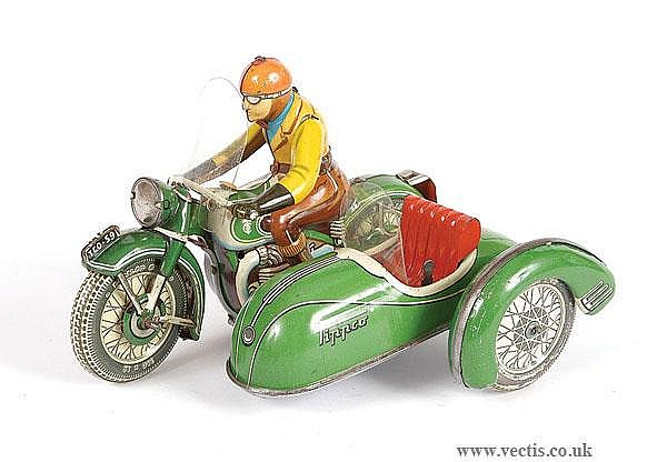 Tipp  &  Co TCO59 Tinplate Motorcycle  &  Sidecar