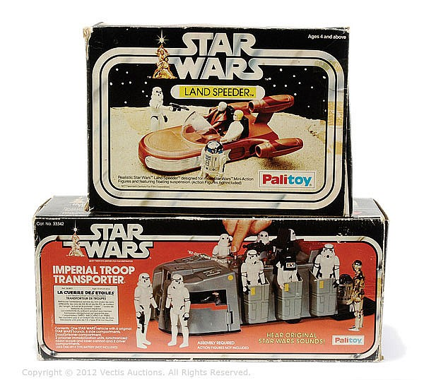 PAIR Palitoy Star Wars inc Imperial Transporter