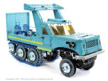 Meccano or similar display model of a half track