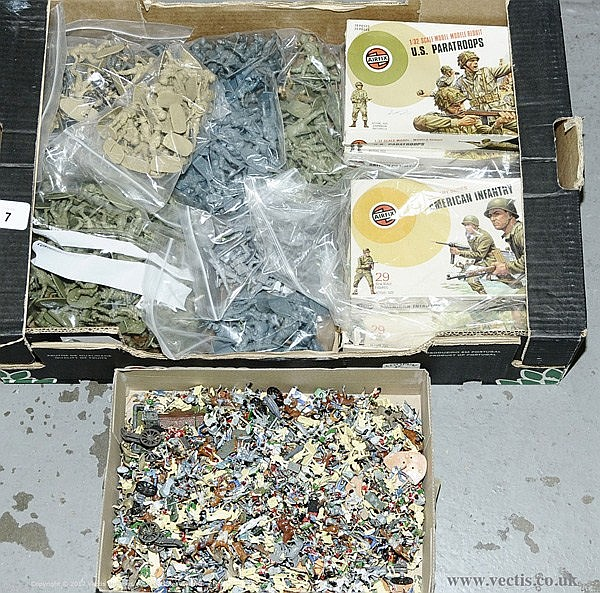 QTY inc Airfix Military Series, (500+ figures)