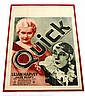 Lilian Harvey Quick UFA vintage Poster, printed