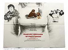 Straw Dogs (1971). UK Quad Film Poster. Has edge
