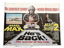Mad Max / Mad Max 2 (1981). UK Quad Film Poster
