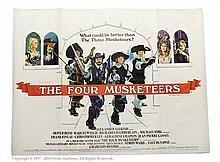 The Four Musketeers (1974). UK Quad. Single