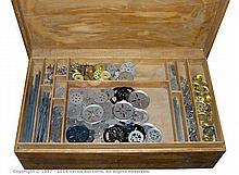 Meccano loose early nickel silver parts