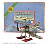 Meccano No.1 Aeroplane Constructor, silver/red