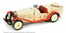 Meccano No.2 Constructor Car, cream/red