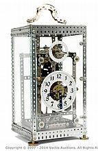 Meccano Model of a Carriage Clock constructed
