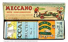 Meccano Set 00A in original card box with lift