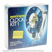 Meccano Clock Kit, contents unchecked box
