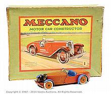Meccano No.1 Constructor Car, red/blue