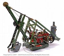 Meccano Model of a Steam Driven Mechanical
