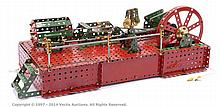 Meccano Model of horizontal Steam Engine with 6