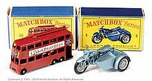 PAIR inc Matchbox Regular Wheels No.4C Triumph