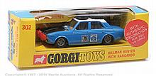 Corgi No.302 Hillman Hunter Rally Car - blue