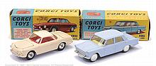 PAIR inc Corgi No.217, 239 boxed Fiat 1800
