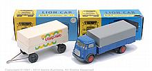 PAIR inc Lion Car Lorry and Trailer - No.23 DAF