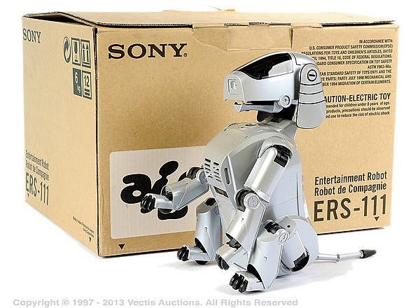 Sony Albo Robot Dog - grey plastic battery