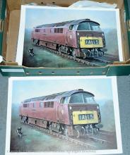 Collection of loco Prints 10 x Class 52 Western