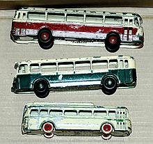 GRP inc French Dinky and CIJ buses - French