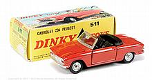French Dinky No.511 Peugeot 204 Cabriolet - red