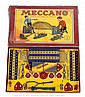 Meccano Set No.1 with blue hatched/gold parts