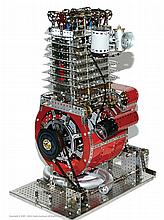 Meccano Model of a Twin Cylinder Internal