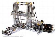 Meccano Model of a Stone Cutting Machine