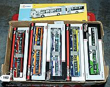 GRP inc Corgi Articulated City and Town Buses