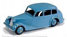 Dinky Triumph 1800 - mid blue body, ridged hubs