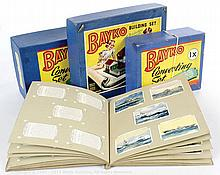 GRP inc Bayko post-war Building Sets 0, 1X & 2X