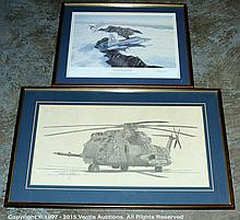 PAIR inc Pair of framed LE Aircraft