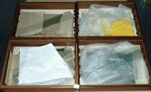 GRP inc 4 x Wooden Display Cabinets